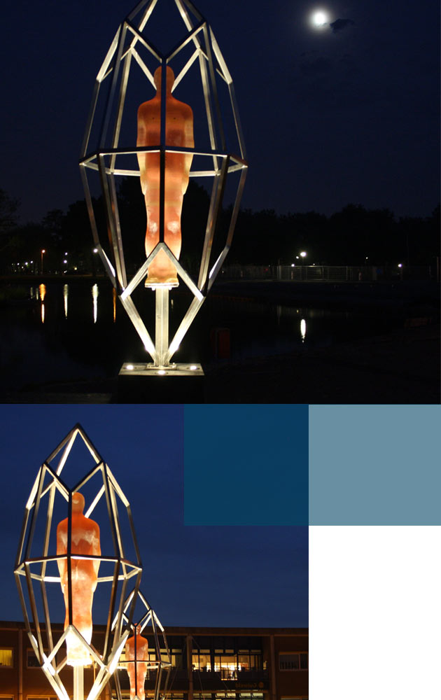 Vandaalbestendige verlichting en armaturen van RXLight lichten kunstwerken uit in Zaanstad.